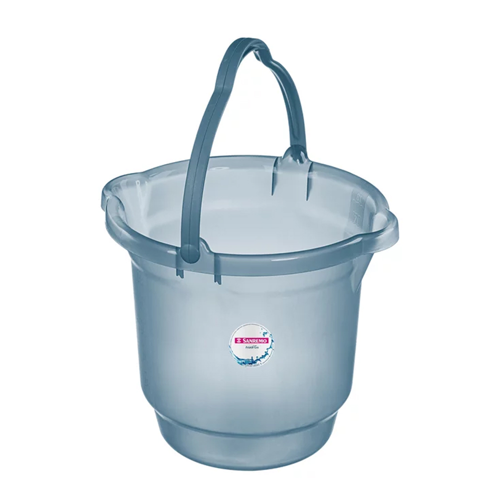 Balde 8,5L para Limpeza de Plástico Azul Sanremo