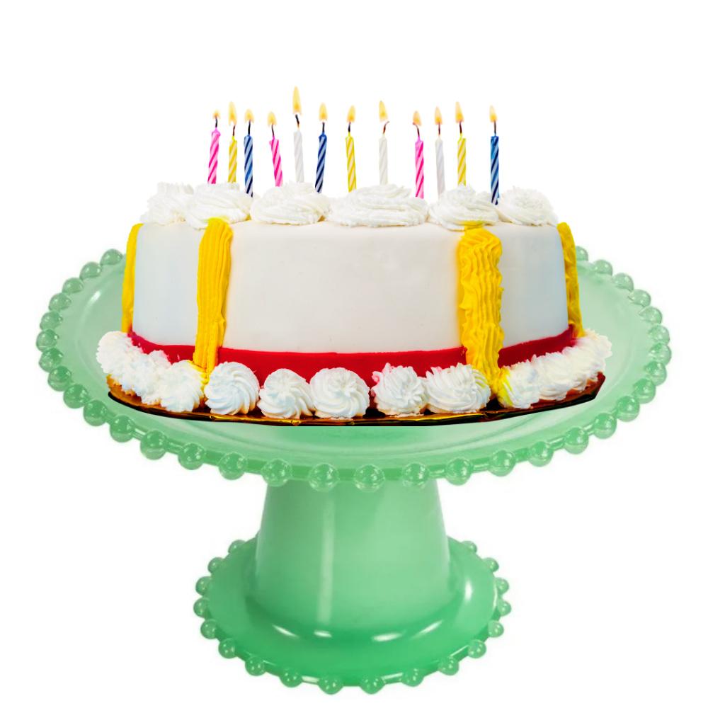 Boleira 25Cm para Tortas e Doces Finos de Vidro Verde Wow