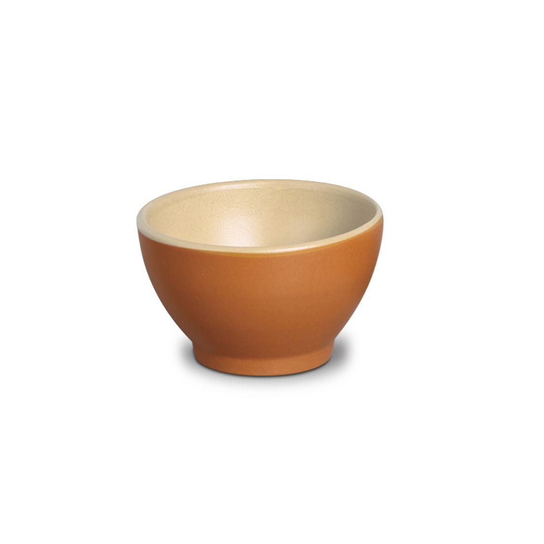 Bowl para Consomê de Cerâmica Marrom 550Ml