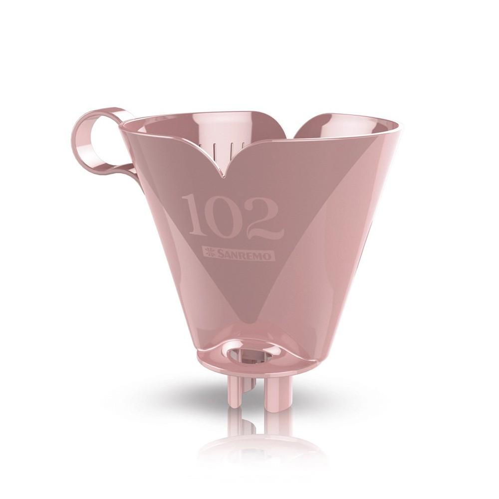 Bule Térmico 700Ml de Plástico com Suporte para Filtro de Café 102 Rosa