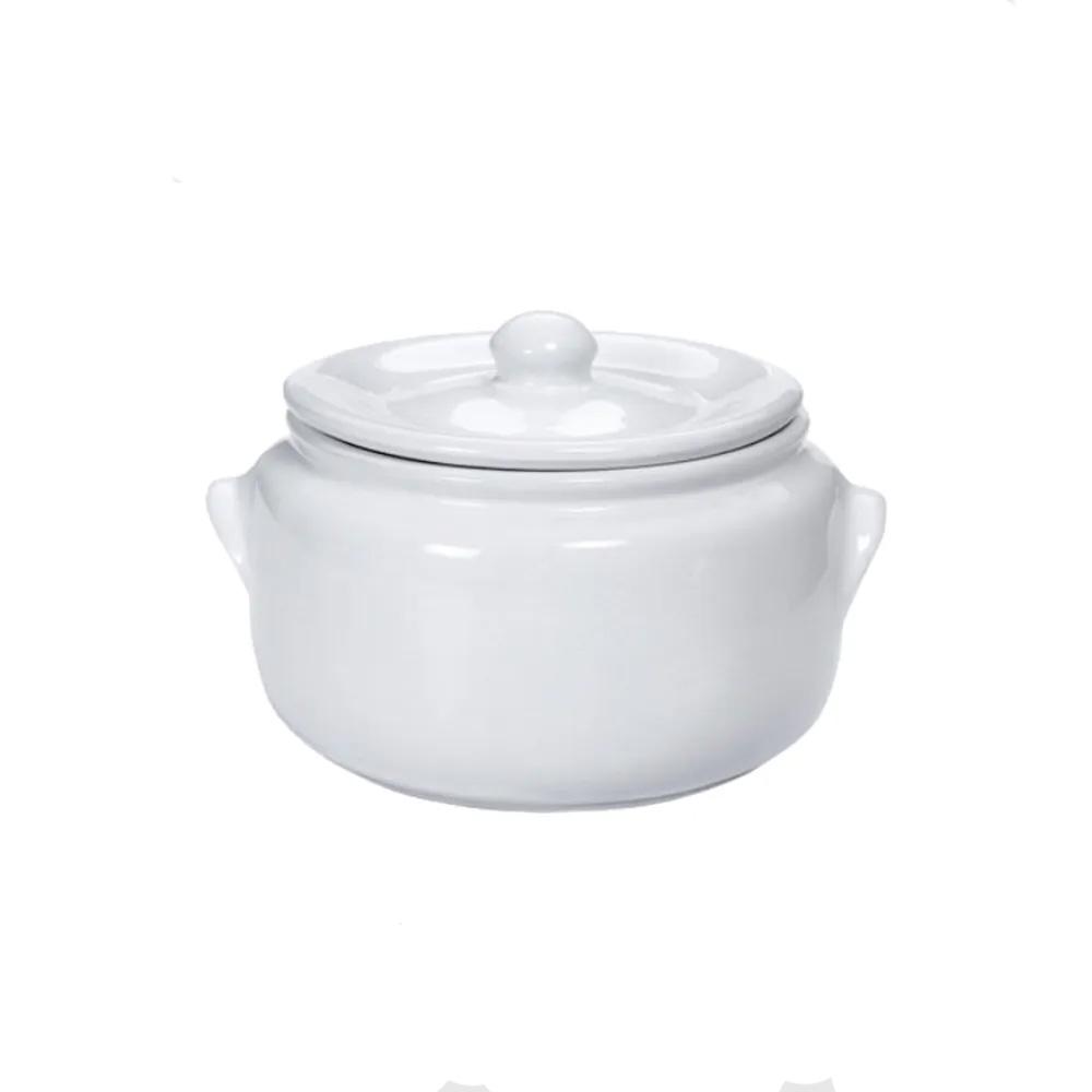 Caçarola La Faenza 20Cm de Cerâmica com Tampa Branco