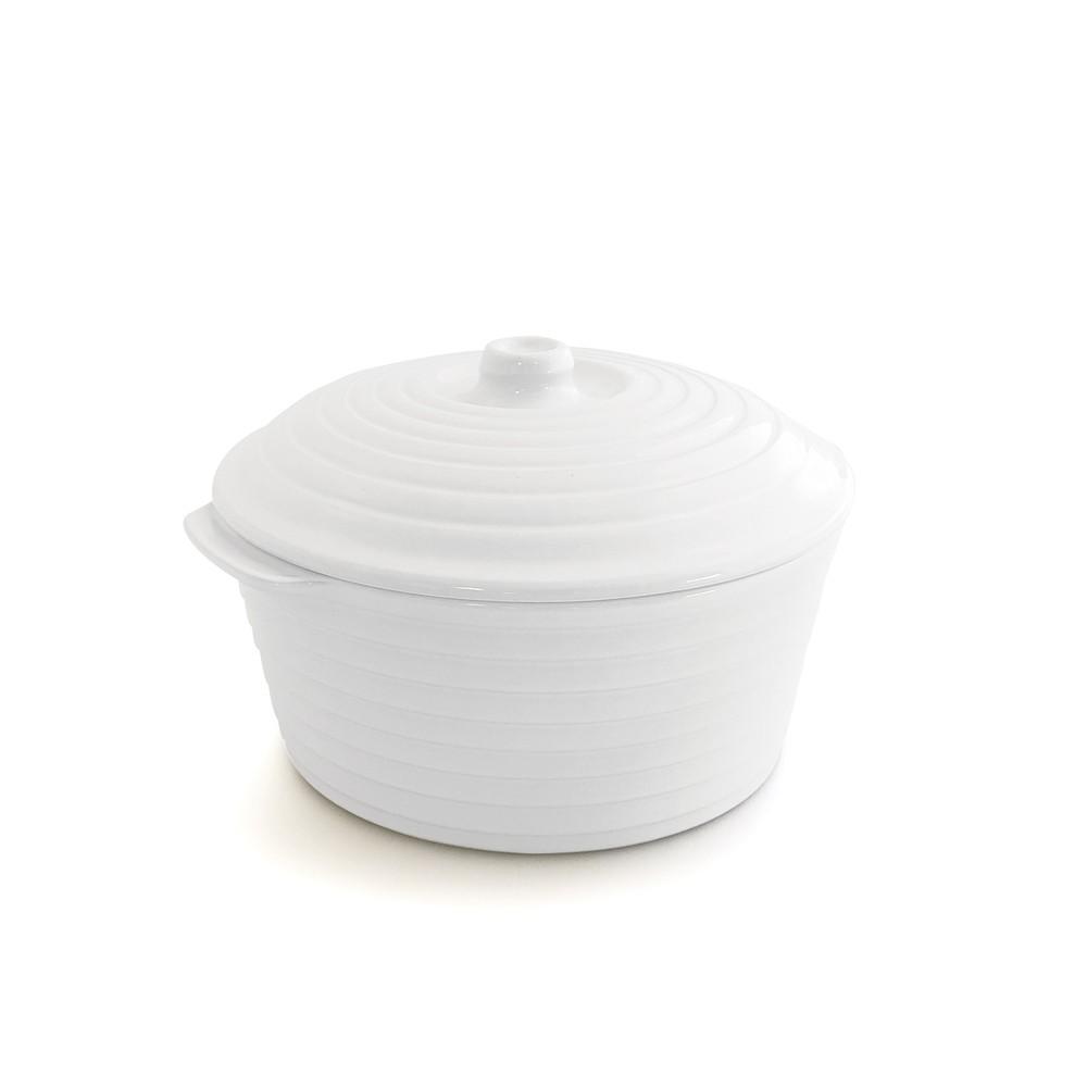 Caçarola de Cerâmica com Tampa Gourmet Branca 23Cm