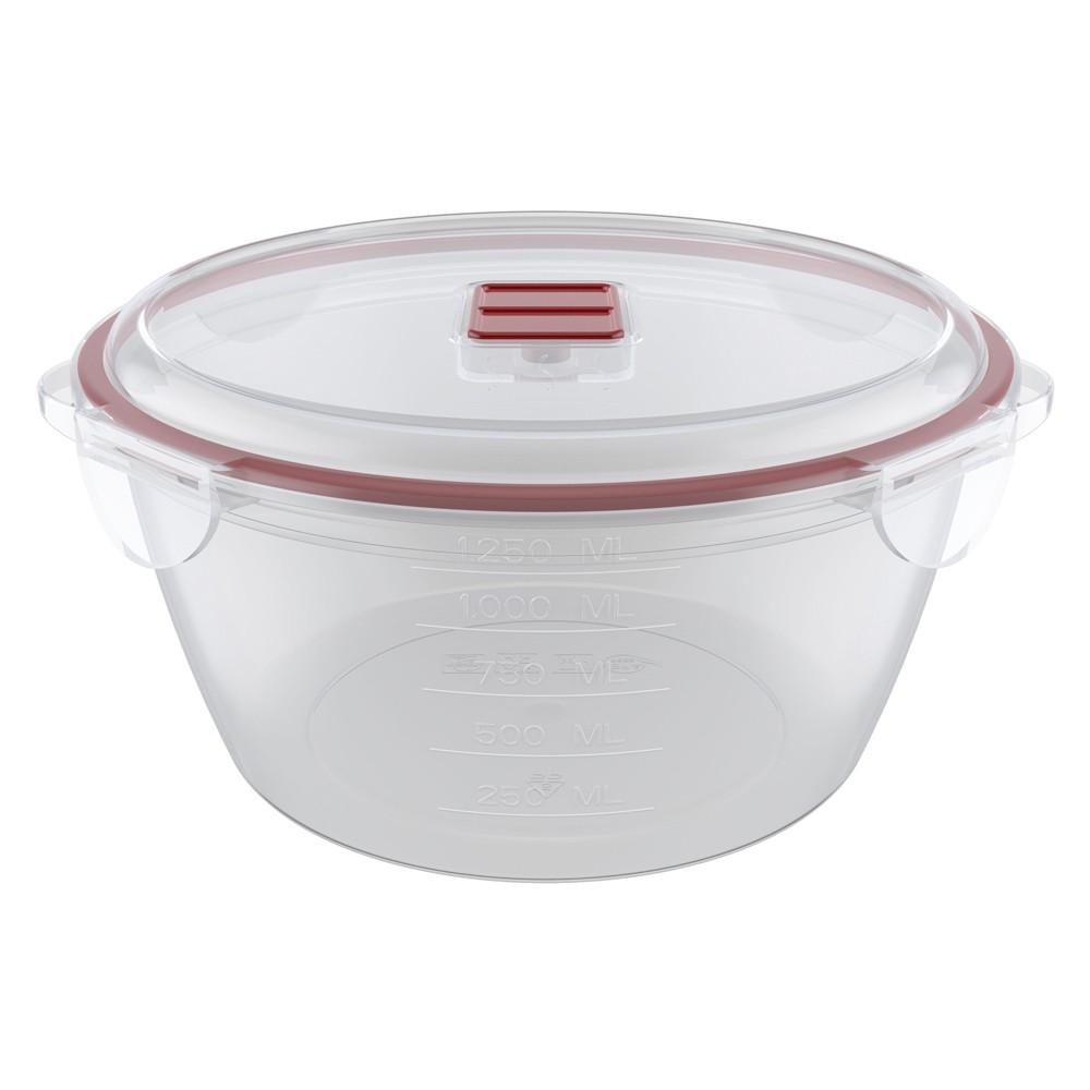 Caçarola para Freezer e Micro-Ondas de Plástico com Travas e Saída de Vapor Mini 19Cm