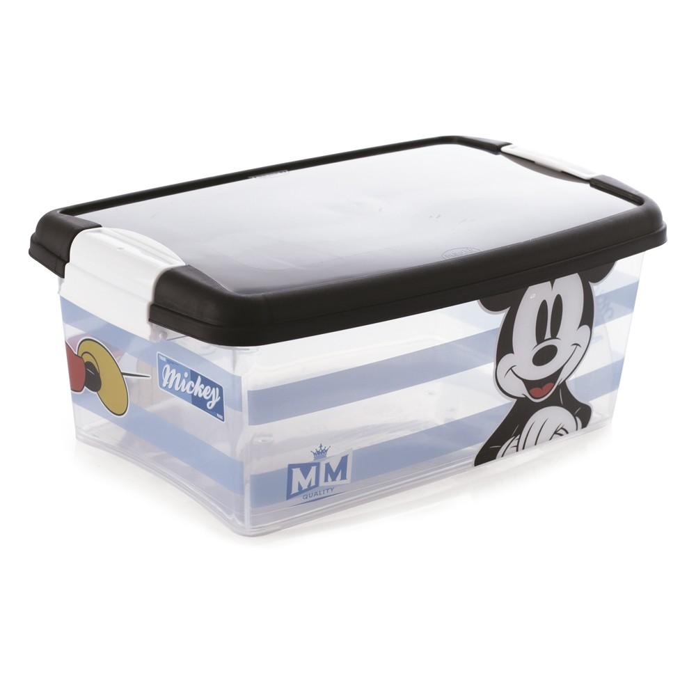 Caixa Organizadora Plasútil Mickey 3,4L de Polipropileno com Trava