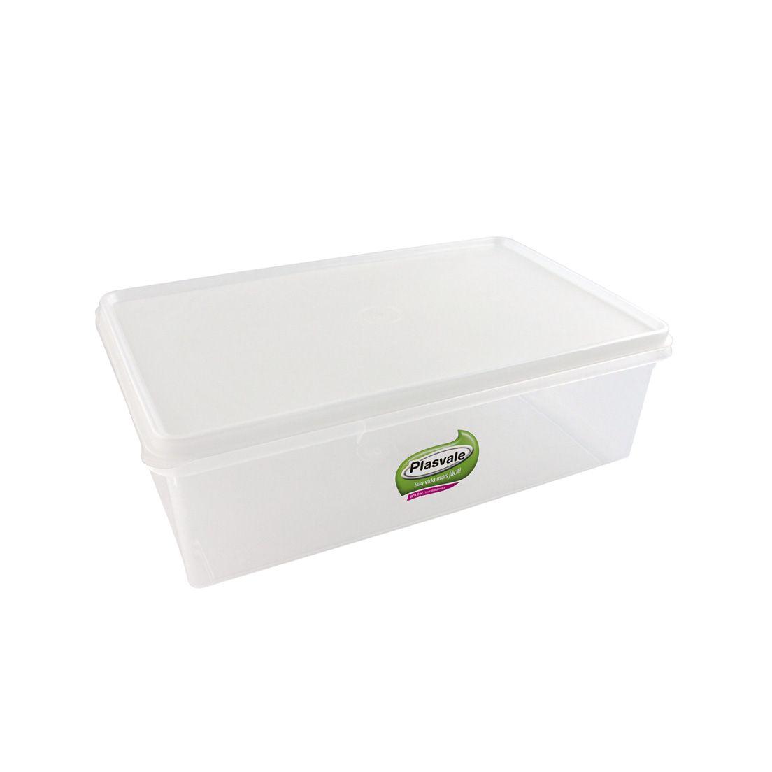 Caixa Organizadora para Freezer e Geladeira de Plástico com Tampa Retangular 11L