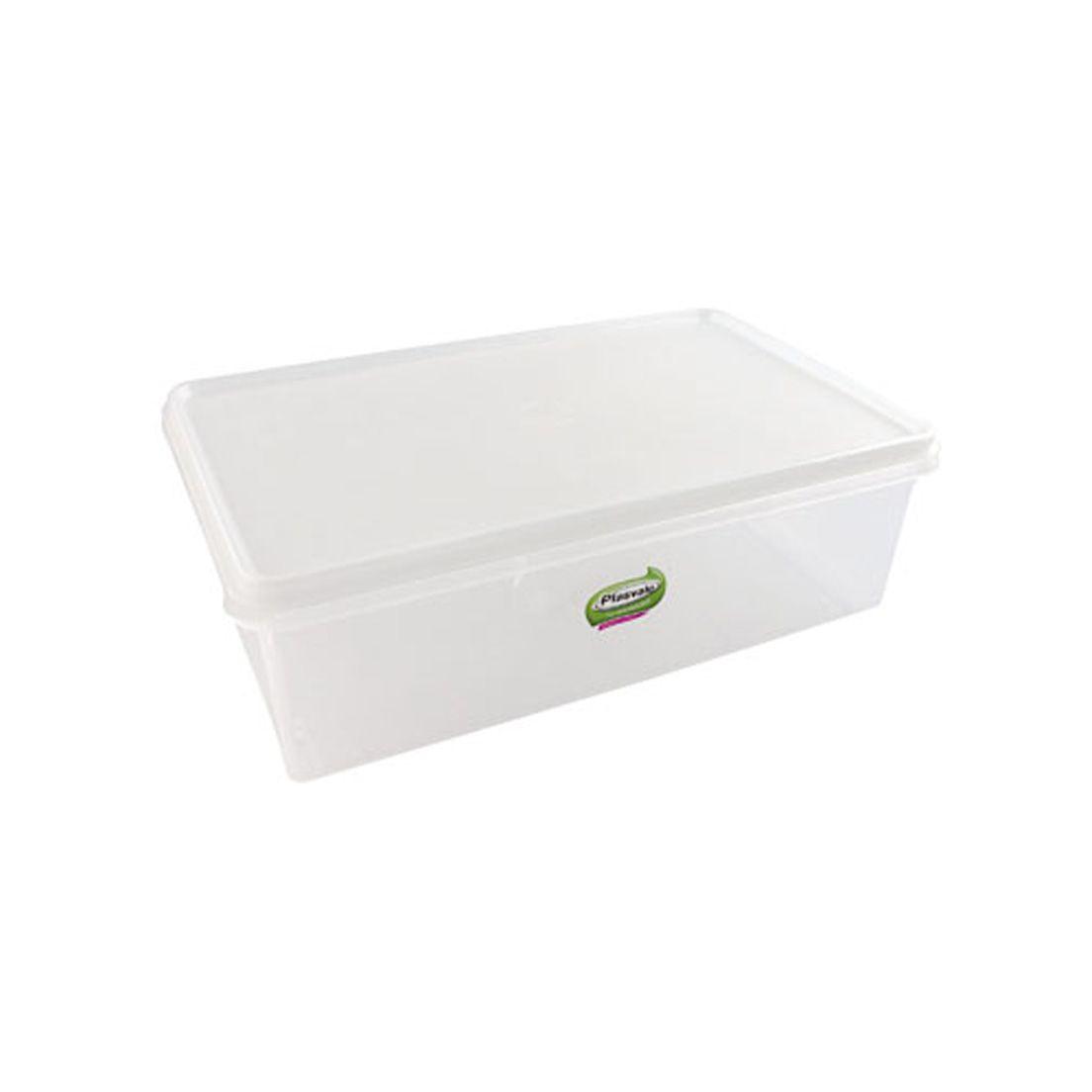 Caixa Organizadora para Freezer e Geladeira de Plástico com Tampa Retangular 3,5L