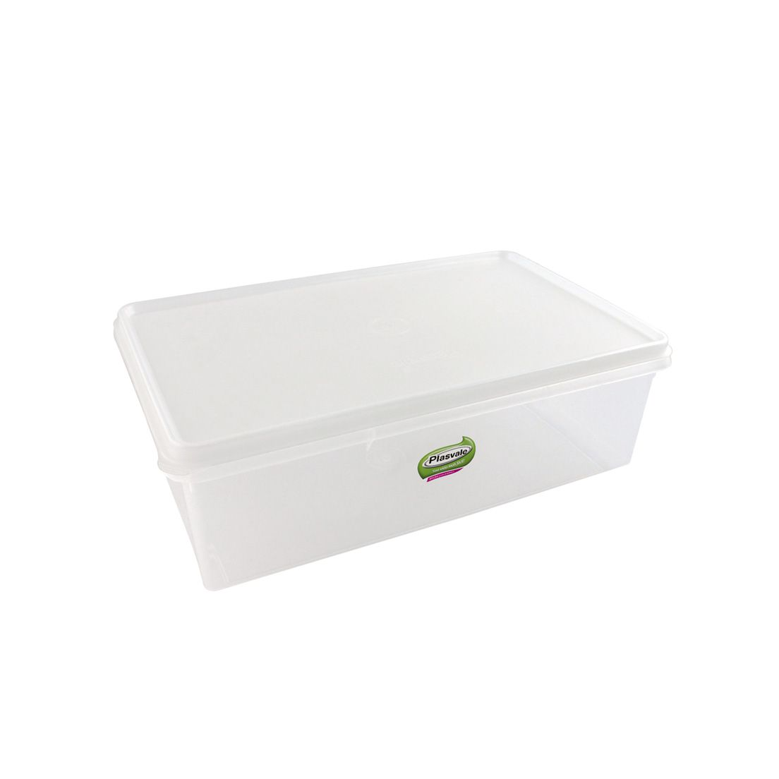 Caixa Organizadora para Freezer e Geladeira de Plástico com Tampa Retangular 6,5L