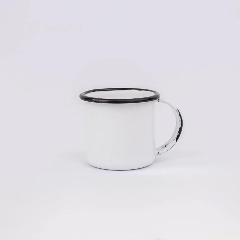 Caneca 70Ml de Aço Carbono Esmaltada Branca