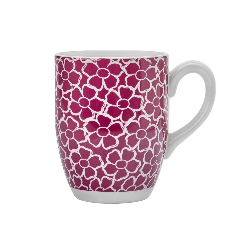 Caneca de Cerâmica Flores 350Ml