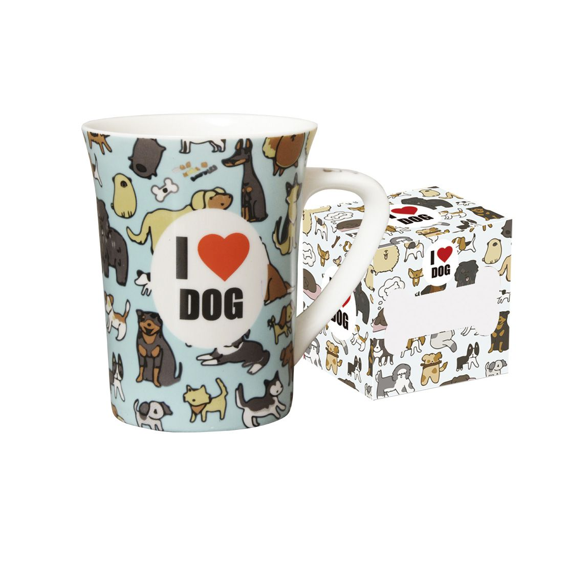 Caneca 330Ml de Porcelana Fina Dog