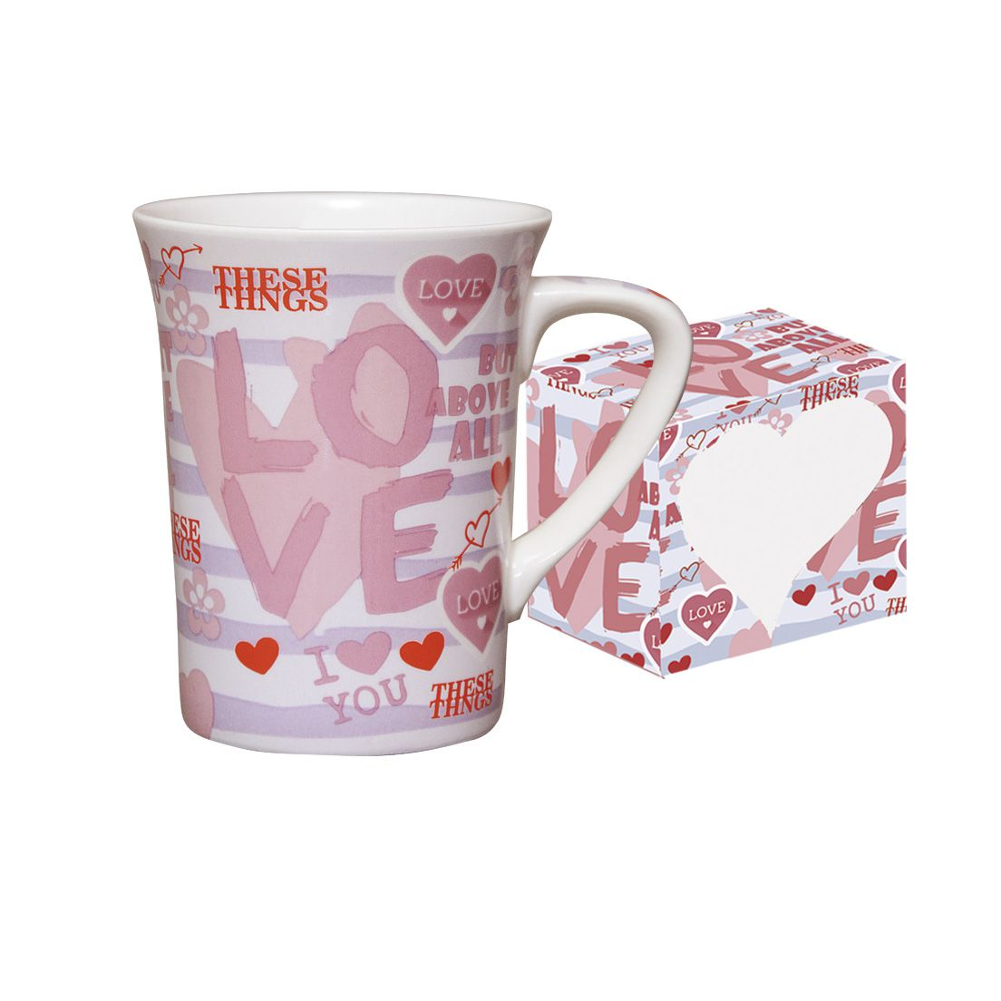 Caneca de Porcelana Fina 330Ml Love