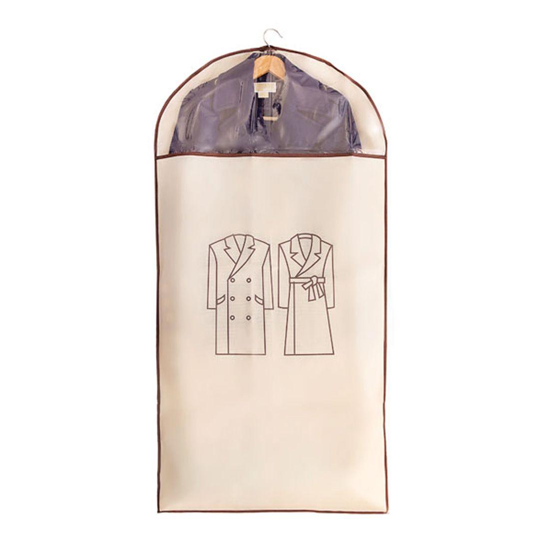 Capa Protetora para Roupa em Tnt com Visor Transparente Tamanho G
