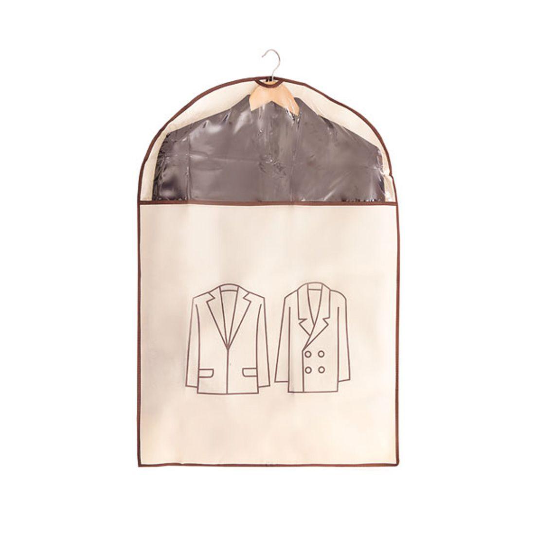 Capa Protetora para Roupa em Tnt com Visor Transparente Tamanho M