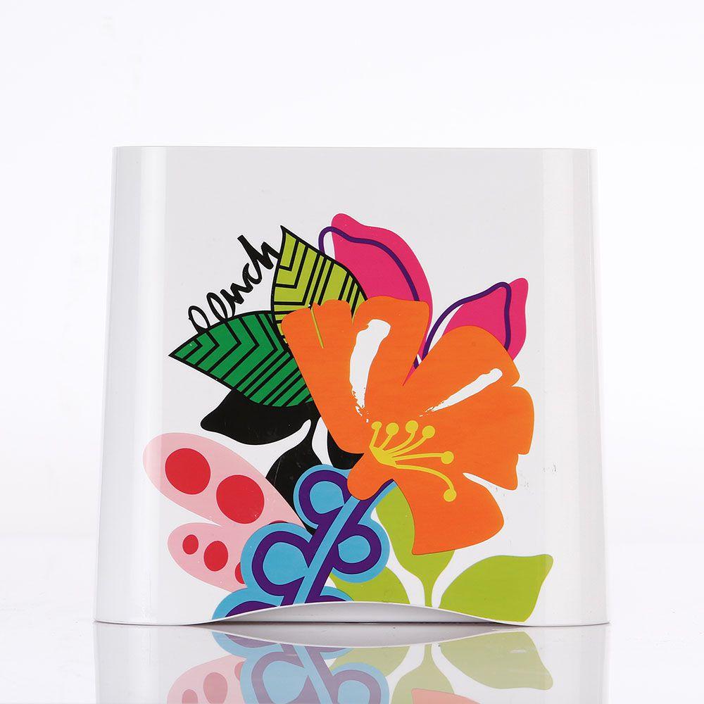 Cepo para Facas de Cerâmica Esmaltado com 4 Facas de Aço Inox Branca Ziggy