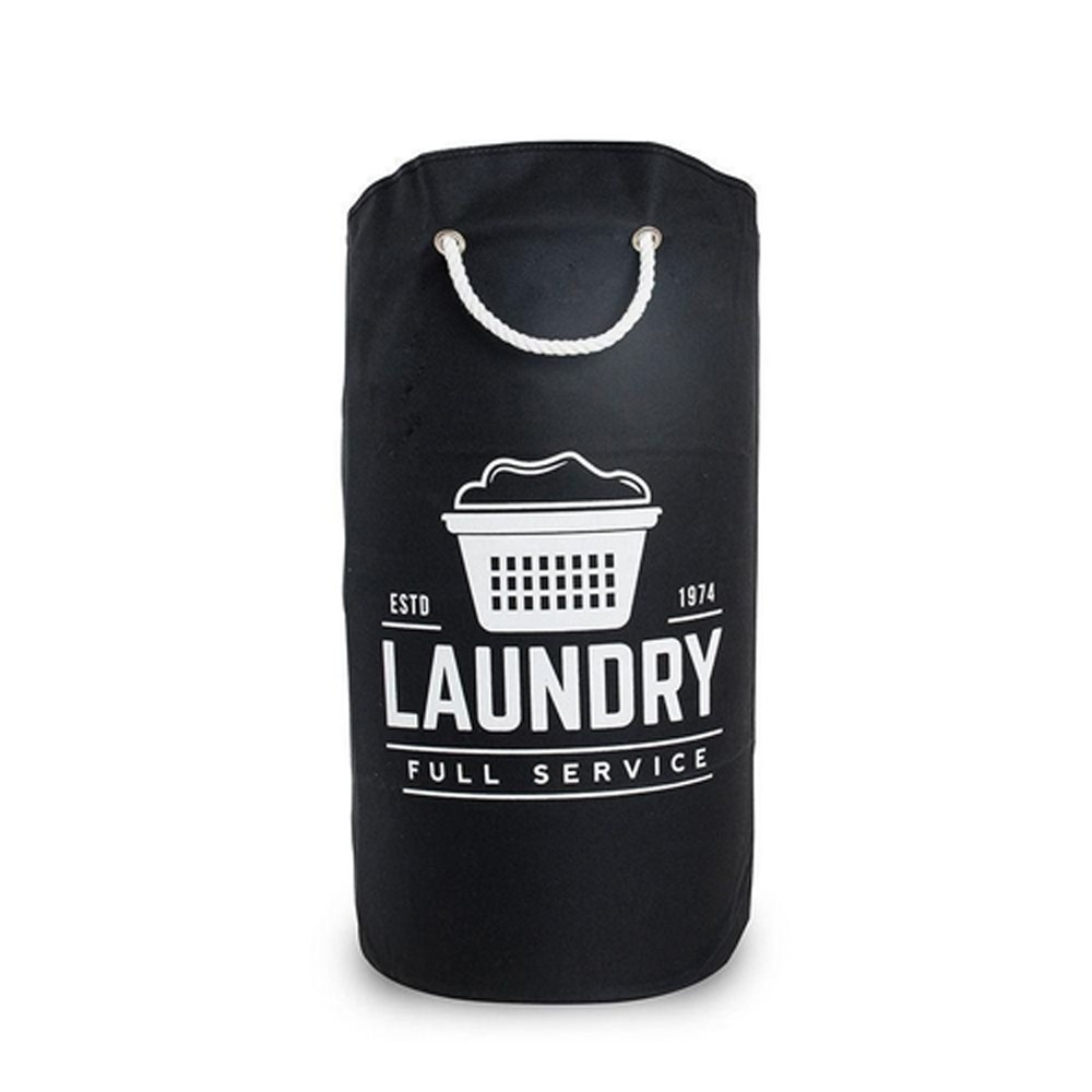 Cesto Organizador 25L para Roupas de Poliéster com Alça Preto Laundry