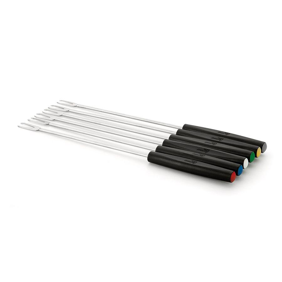 Conjunto de Garfos 06 peças para Fondue de Aço Inox Premium