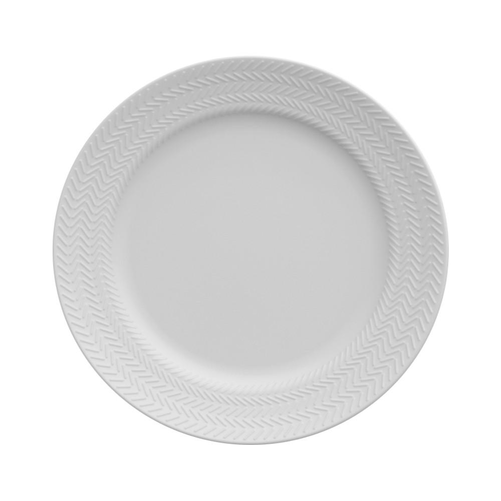Conjunto de Pratos para Sobremesa 6 Peças de Porcelana 21Cm Chevron