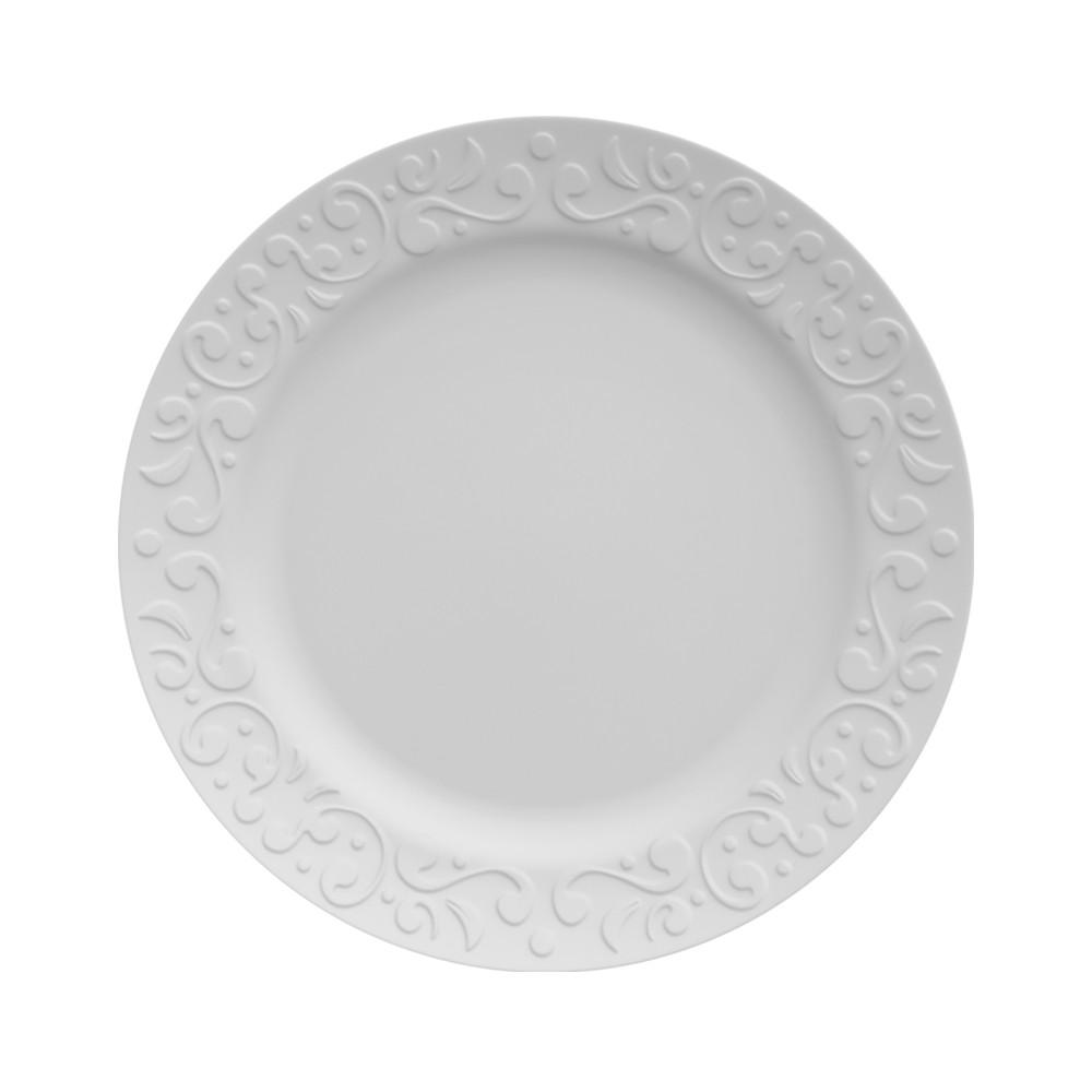 Conjunto de Pratos Fundos para Mesa com 6 Peças de Porcelana 24Cm Tassel