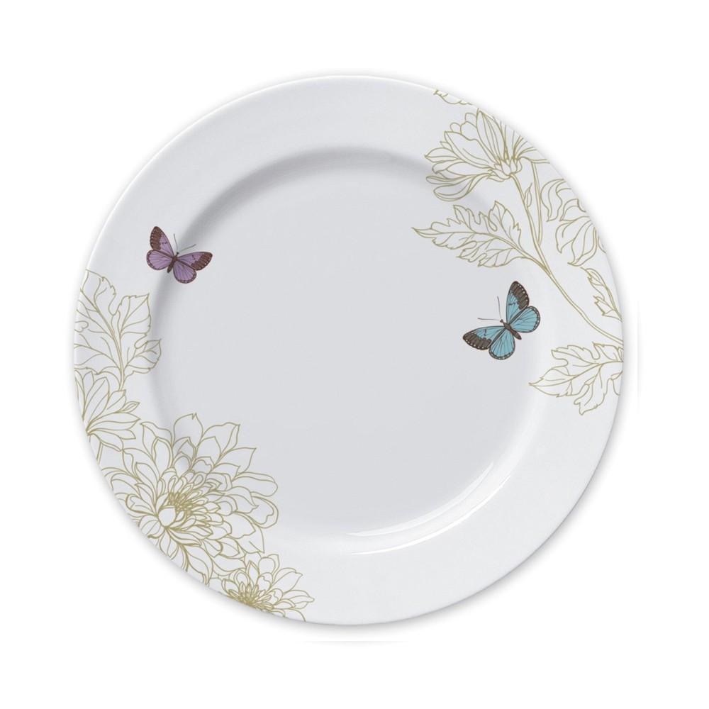 Conjunto de Pratos Rasos para Mesa com 6 Peças de Porcelana 26,5Cm Milão