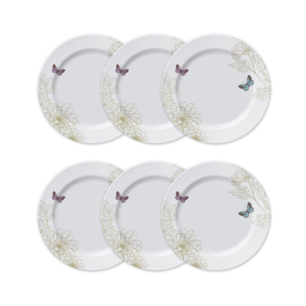 Conjunto de Pratos Rasos para Mesa 6 Peças de Porcelana 26,5Cm Milão