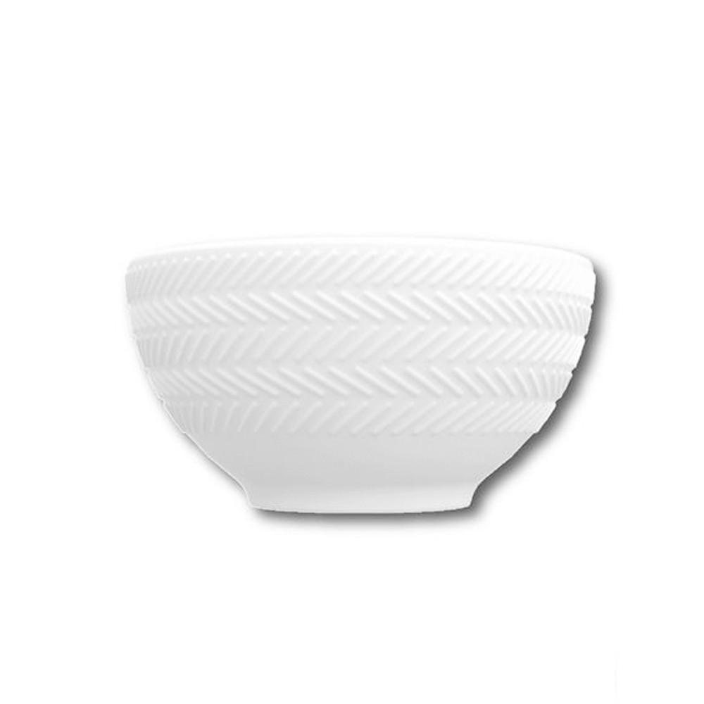 Conjunto de Bowls Tigelas 6 Peças de Porcelana 400Ml Chevron