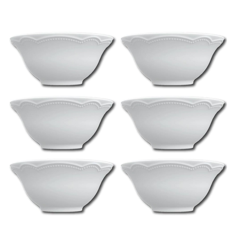 Conjunto de Bowls Tigelas 6 Peças de Porcelana 400Ml Cottage