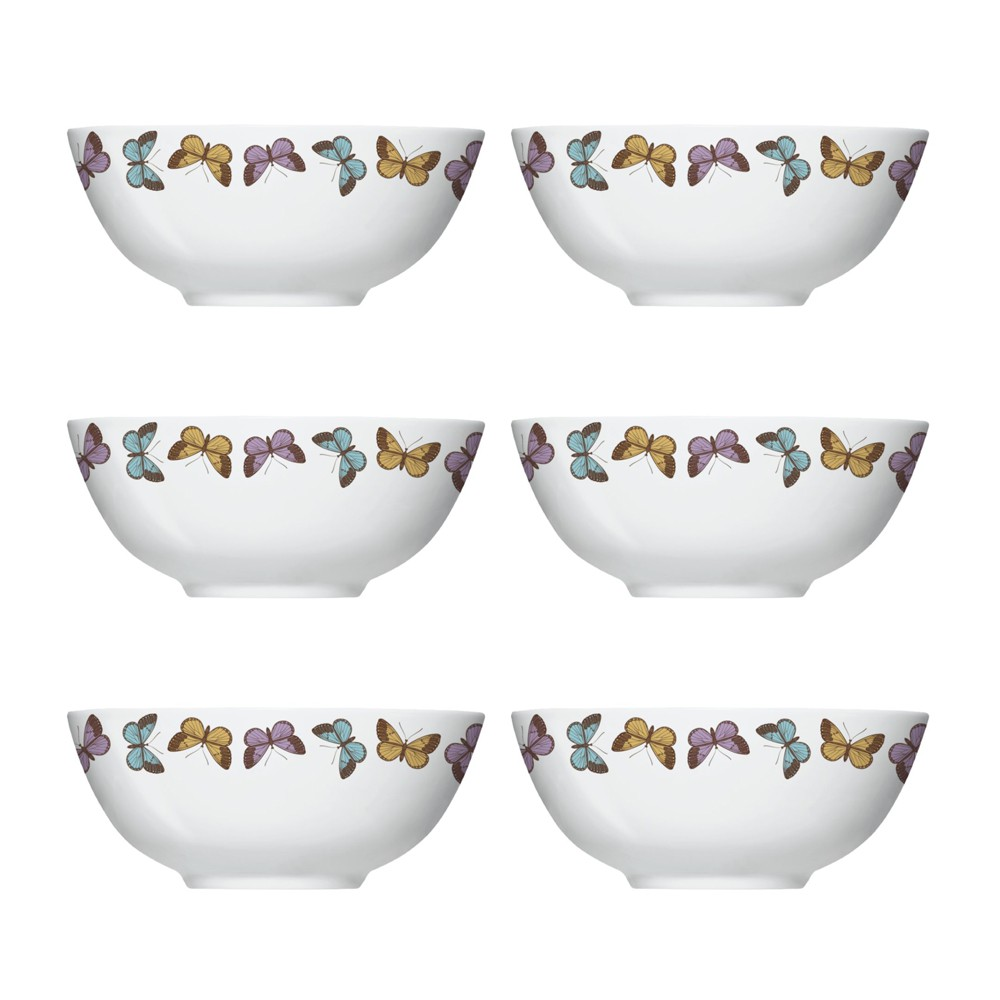 Conjunto de Bowls Tigelas 6 Peças de Porcelana 550Ml Milão
