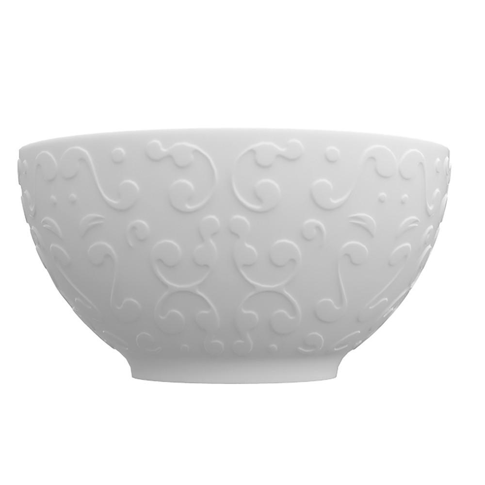 Conjunto de Bowls Tigelas 6 Peças de Porcelana 400Ml Tassel