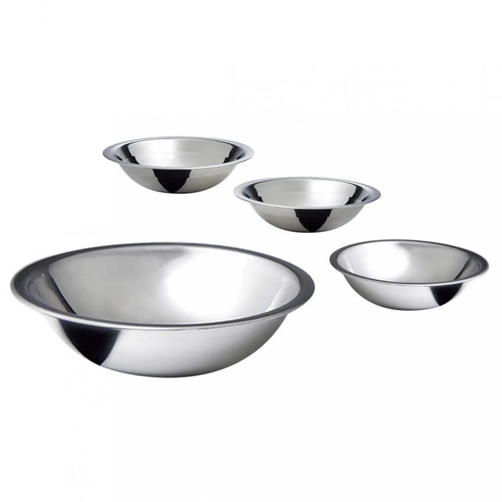 Conjunto de Bowls Tigelas Rasas 4 Peças de Aço Inox com Gradução de Volume