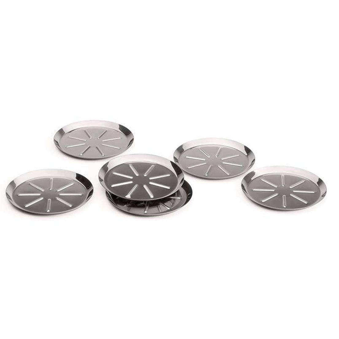 Conjunto de Porta Copos Forma de Aço Inox 6 Peças
