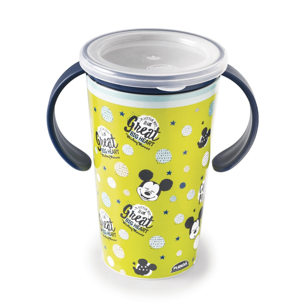 Copo para Treinamento de Polipropileno com Alça 360º Magic Mickey Baby 280Ml