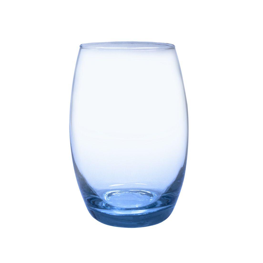 Jogo de Copos Casa Linda Bellagio 450ml de Vidro Azul 6 Peças
