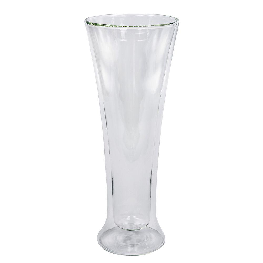 Copo de Vidro Borossilicato com Parede Dupla Long Drink - Preserva A Graduação Térmica - 300Ml