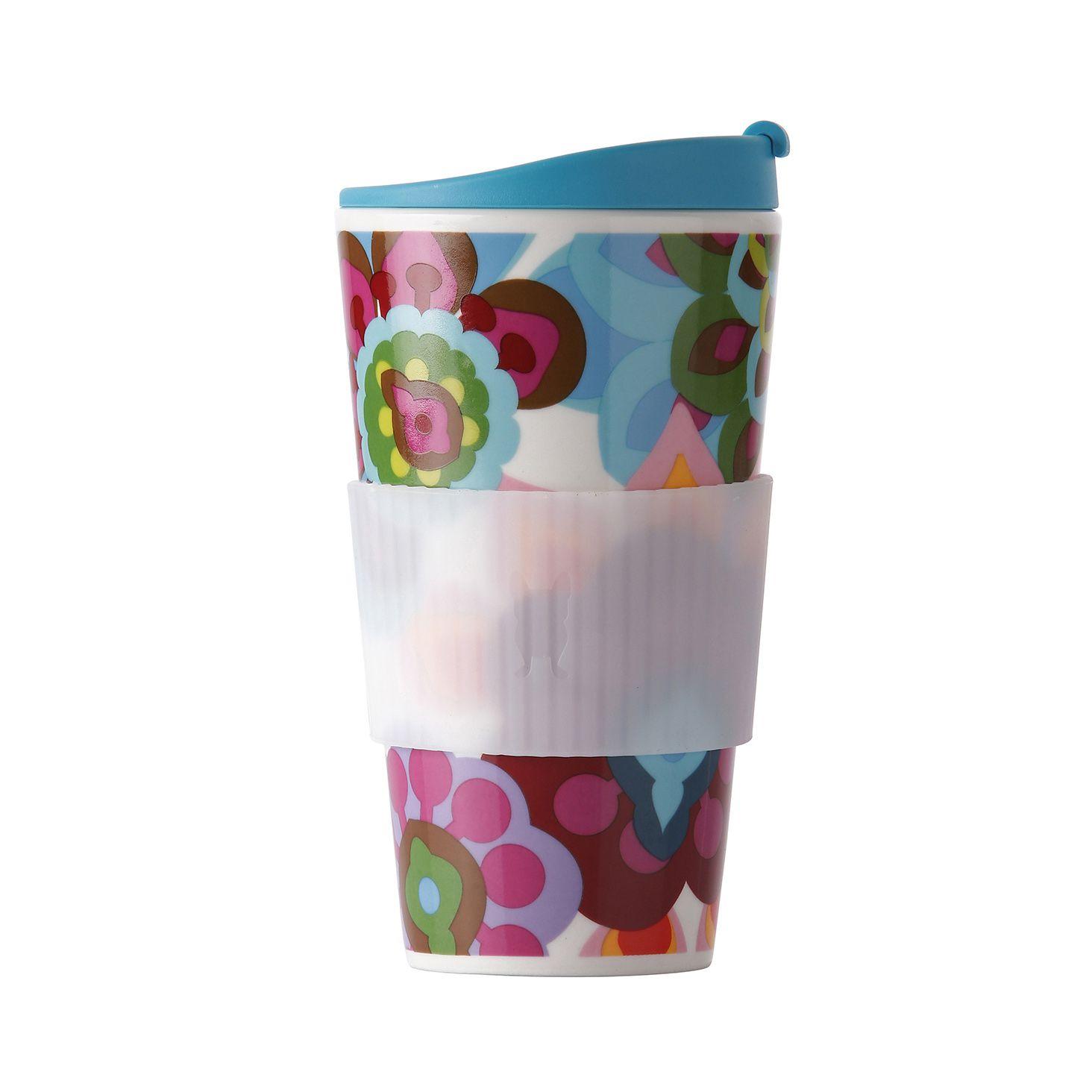 Copo Térmico de Porcelana com Silicone Traveler Gala 470Ml