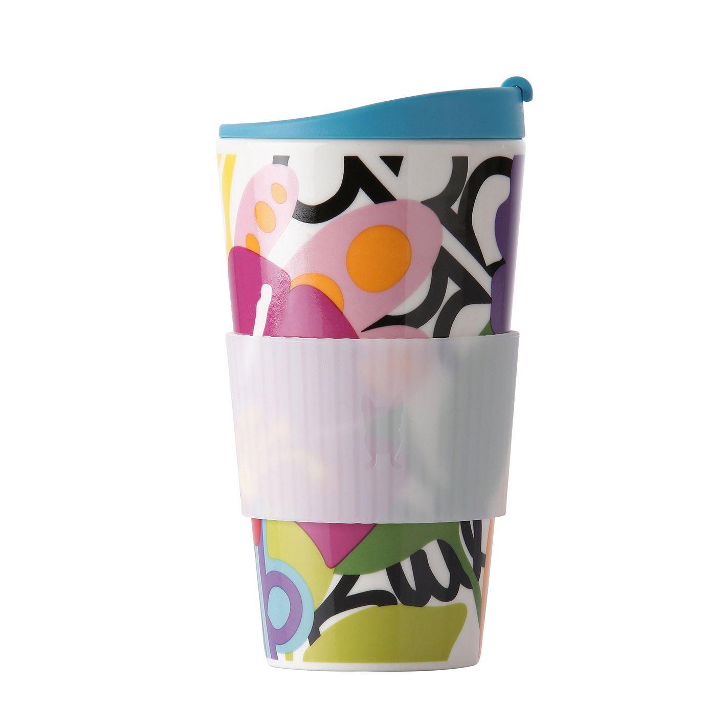 Copo Térmico de Porcelana com Silicone Traveler Oasis 470Ml