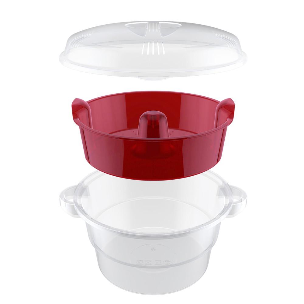 Cuscuzeiro para Micro-Ondas de Plástico Cozi Vapore com Alça 22Cm
