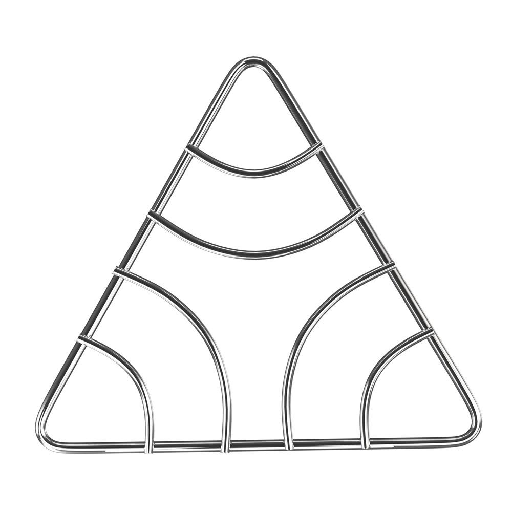 Descanso para Panela de Aço Cromado Triangular