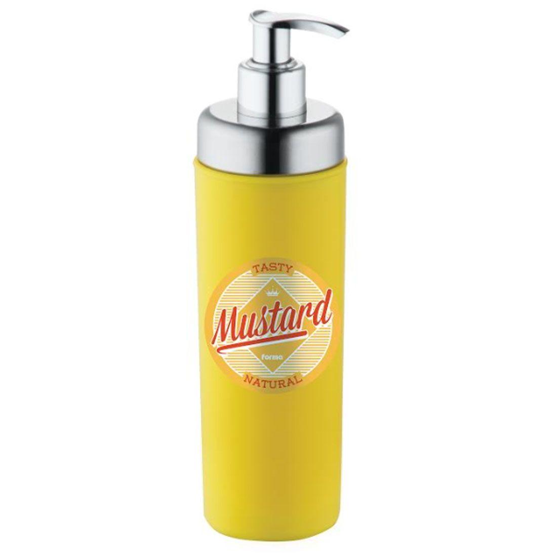 Dispenser para Molho de Poliestireno com Sistema Pump Retrô Mostarda 300Ml