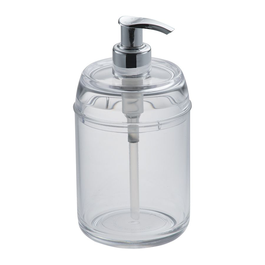 Porta Sabonete Líquido de Acrílico com Sistema Pump 350Ml