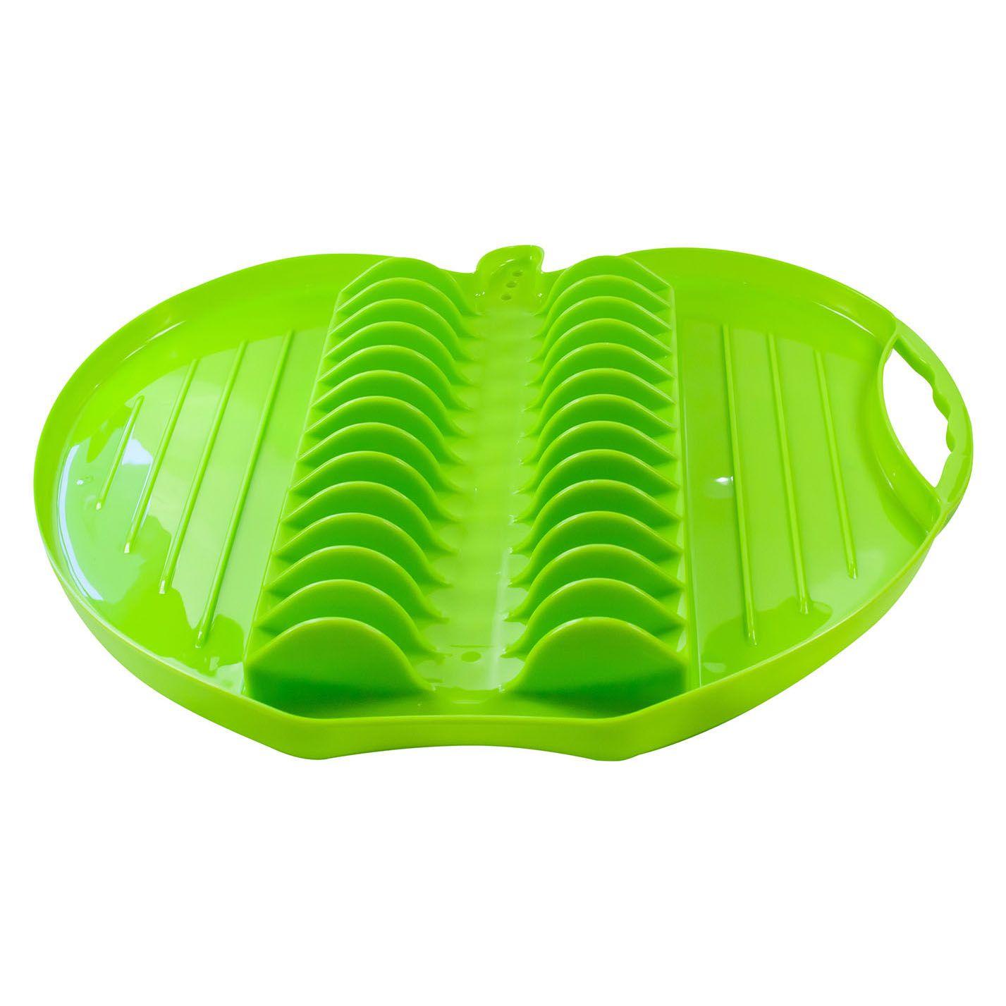 Escorredor para Louças de Plástico Resistênte Maça Verde Wow