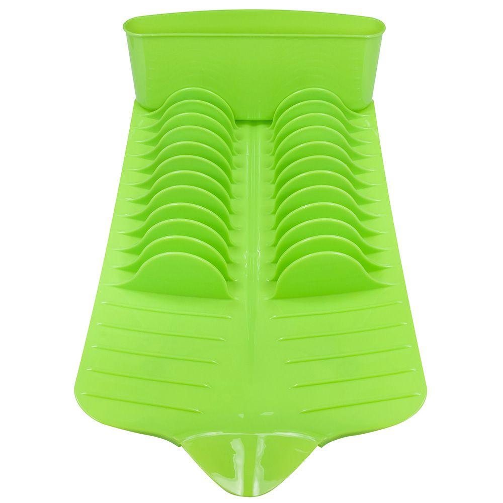 Escorredor para Louças de Plástico Resistênte Retangular Verde Wow