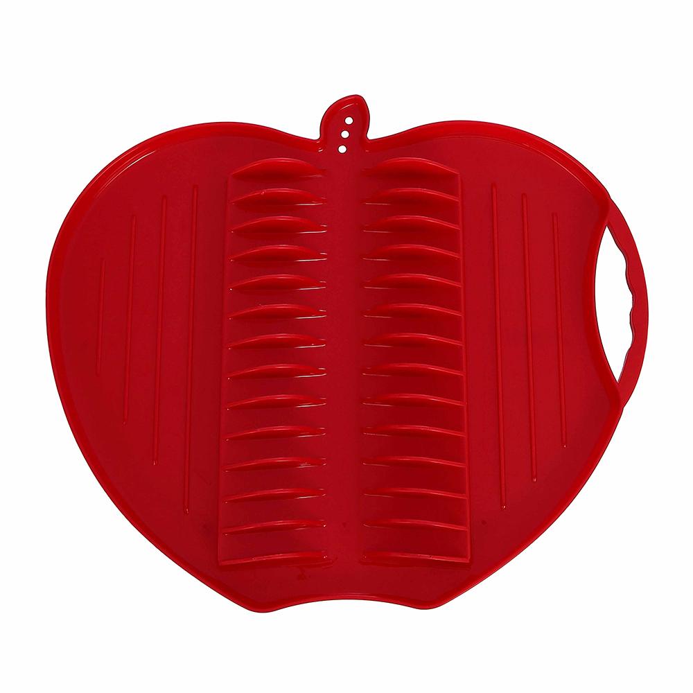 Escorredor Next Maça Wow para Louças de Plástico Resistente Vermelho