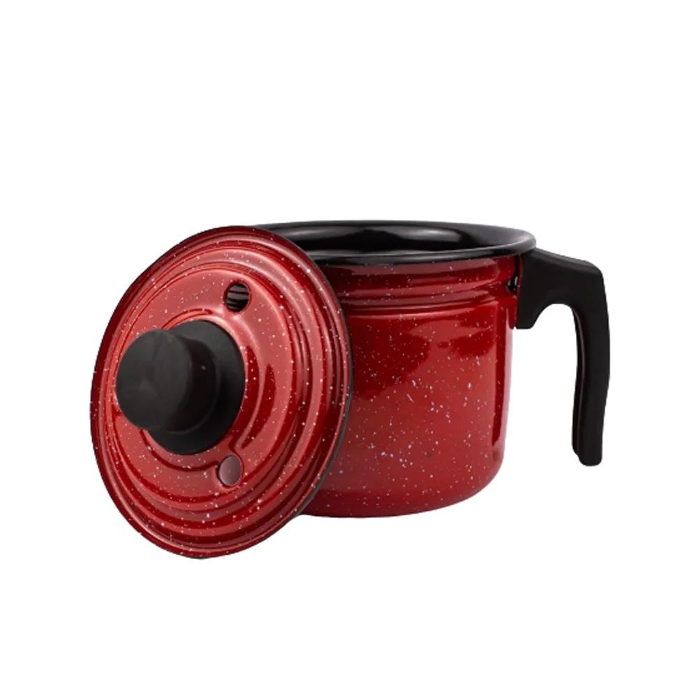 Fervedor 1,7L Leiteira de Aço Carbono Esmaltado com Alça Baquelite Vermelho