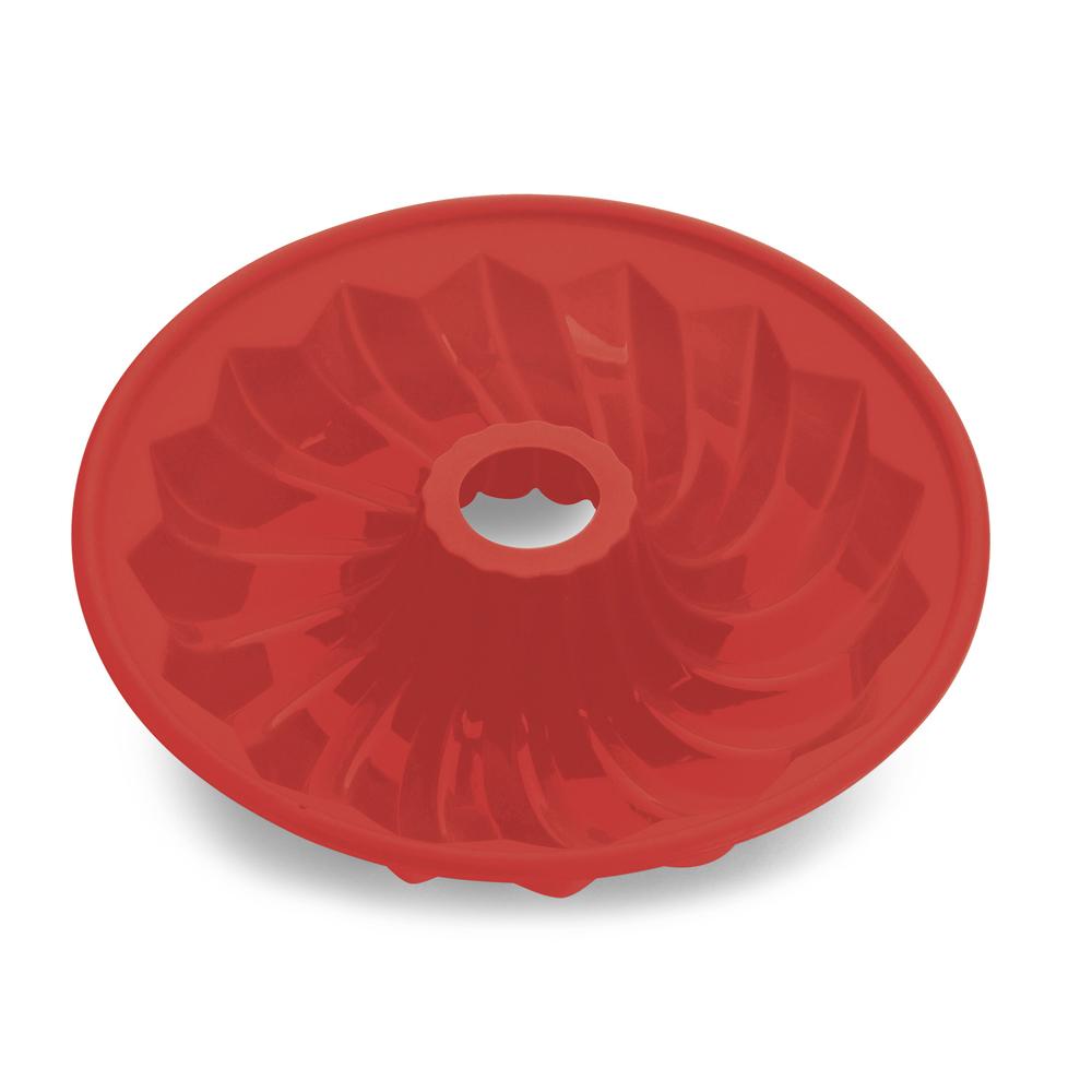 Forma Assadeira 25,7Cm de Silicone com Furo Hercules Vermelha