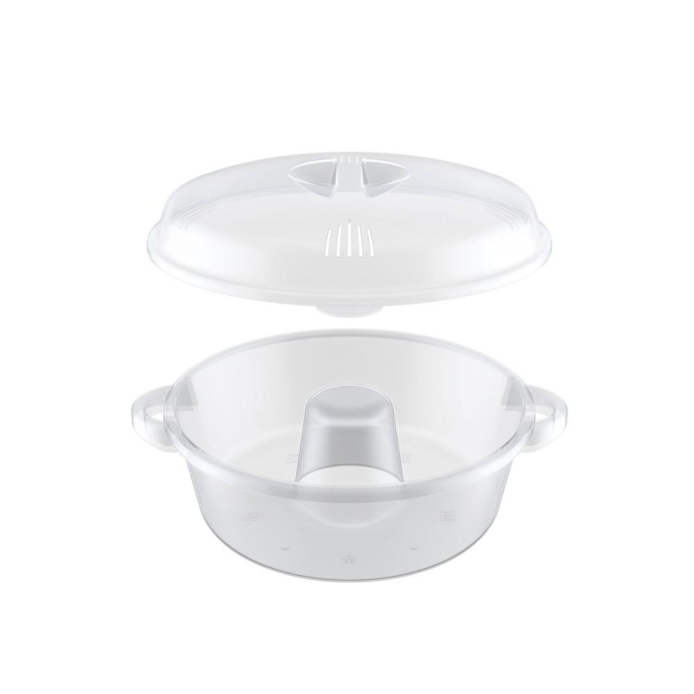Forma Assadeira para Bolo e Pudim de Plástico para Micro-Ondas com Cone 22Cm