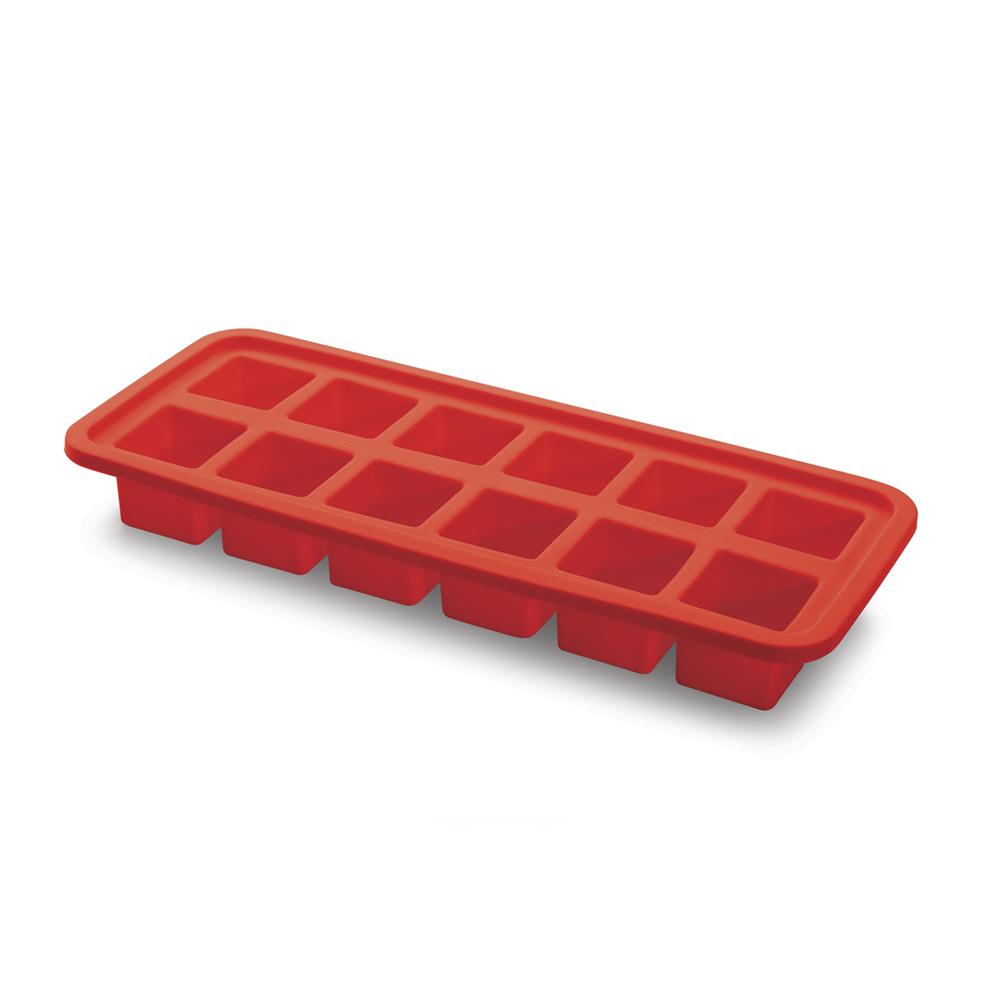 Forma para Gelo de Silicone Quadrada Hercules Vermelha