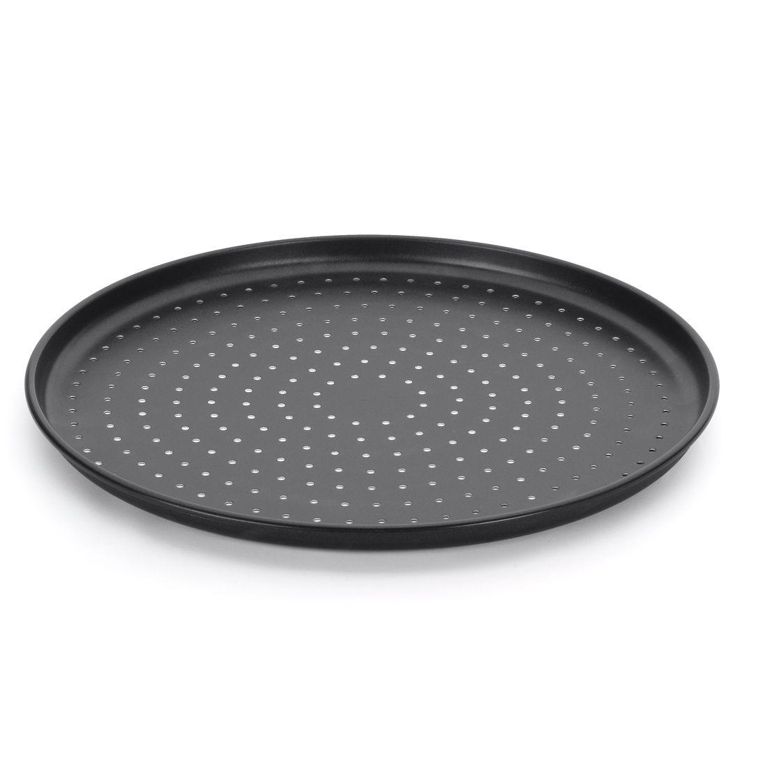 Forma Assadeira para Pizza de Alumínio Furada 35Cm
