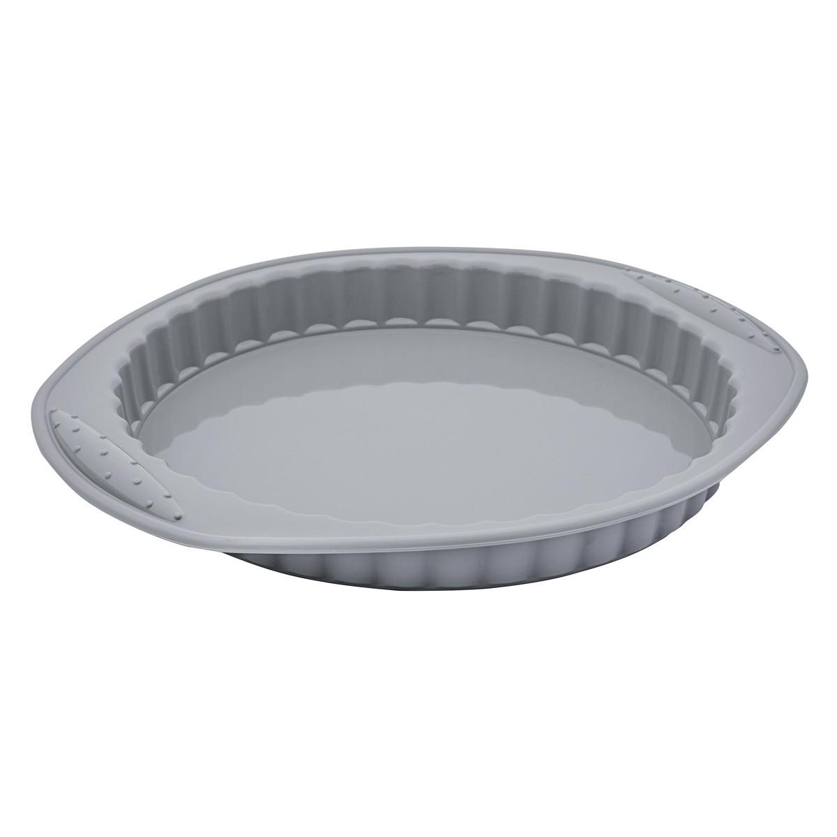 Forma Assadeira 31Cm para Torta de Silicone Flexível Cinza