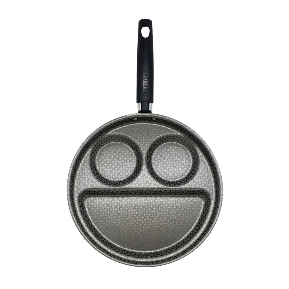 Frigideira 26Cm para Café da Manhã de Alumínio Antiaderente Breakfast Cinza