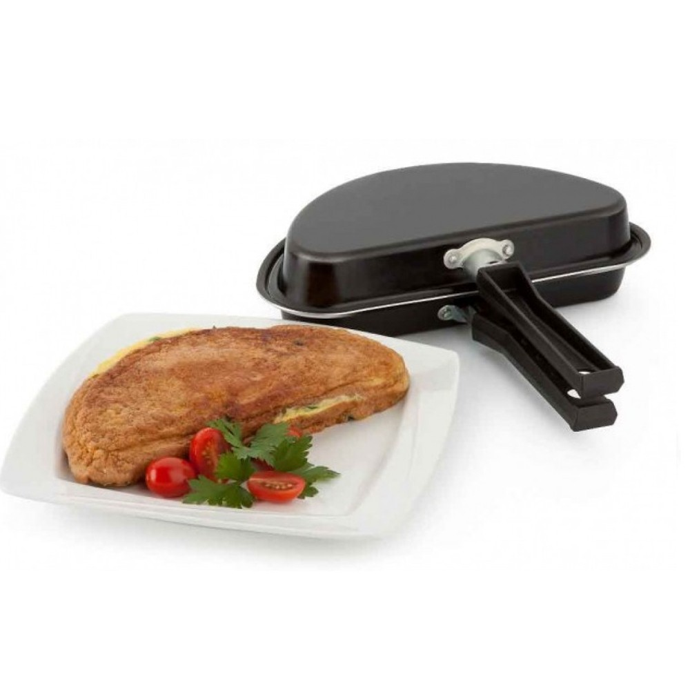 Frigideira Multiflon Gourmet de Alumínio para Omeletes Duplo